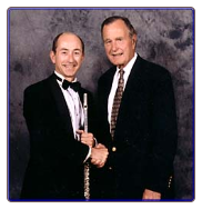 Bill Parish performed for a corporate event with George Bush.
